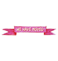 We have moved ribbon vector