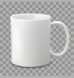 white cup isolated on transparent background vector image