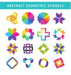 abstract geometric symbols vector image