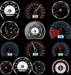 car speedometers vector image vector image