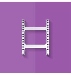 Film web icon filmstrip symbol flat design vector