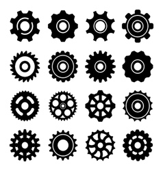 Set icons of gears vector image