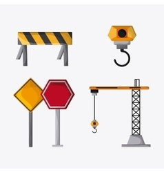 Under construction design tool icon Colorful vector image vector image