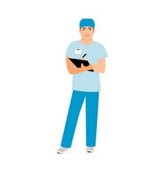 Hospital attendant medical specialist vector