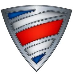 steel shield flag vector image vector image