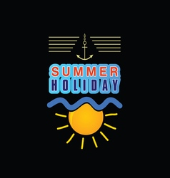 summer holiday icon vector image