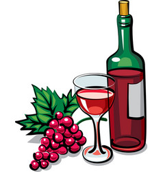 Red dry wine vector