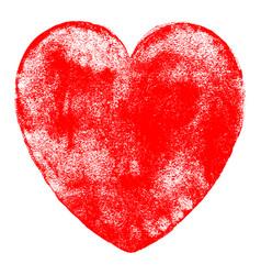 red heart symbol watercolor texture vector image
