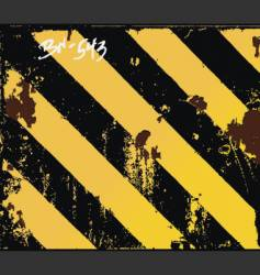 safety stripes vector image vector image