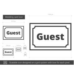 wedding card line icon vector image