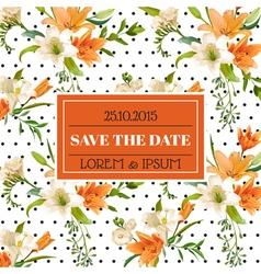 Wedding Invitation or Congratulation Card vector image vector image