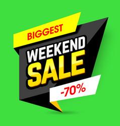 biggest weekend sale poster vector image vector image