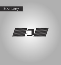Black and white style icon satellite vector