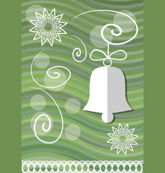 christmas decoration with paper cut xmas symbols vector image vector image