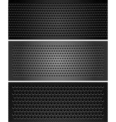 metallic perforated sheet vector image vector image