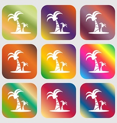 paml icon sign Nine buttons with bright gradients vector image