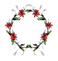 Passiflora wreath2 vector image vector image