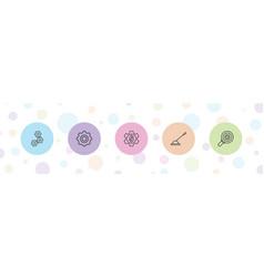 5 gear icons vector