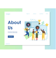 about us website landing page design vector image