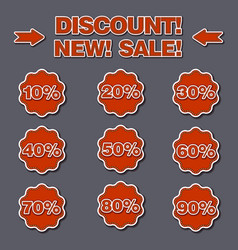 Adverising discount labels vector