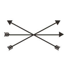 Arrows drawing isolated icon vector