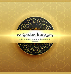 beautiful luxury ramadan kareem greeting design vector image