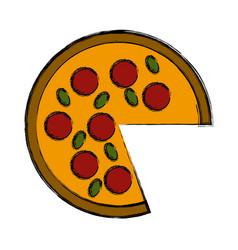 Big pizza symbol vector