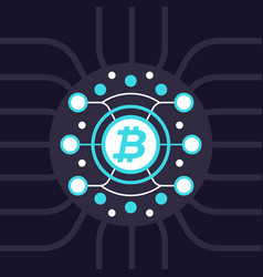 Bitcoin cryptocurrency blockchain vector