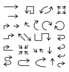 black arrows set large collection of icons vector image