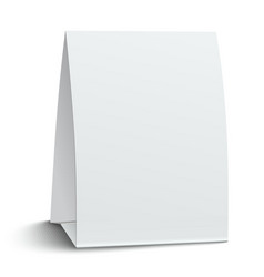 Blank paper table card vector