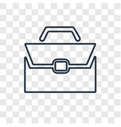 Briefcase concept linear icon isolated on vector
