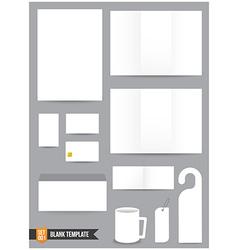Brochure background template 000 vector image