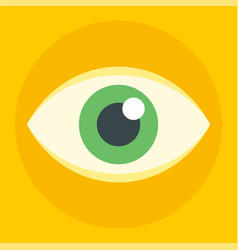 business eye icon flat style vector image