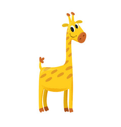 Cartoon of giraffe vector
