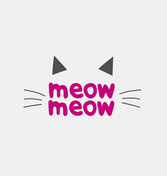 cat face logo icon brand design vector image