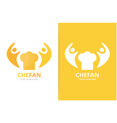chef hat and people logo combination unique cook vector image