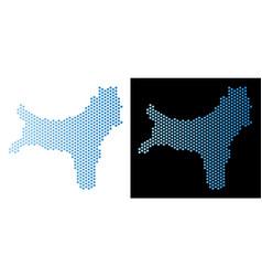 Christmas island map honeycomb mosaic vector