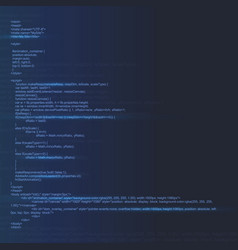 Creative of programming html vector