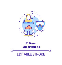 Cultural expectations concept icon vector
