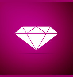 diamond sign on purple background jewelry symbol vector image