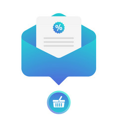 digital email marketing flat icon lead vector image