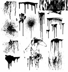 dripping splatters blood vector image
