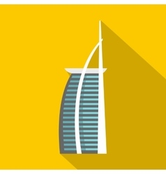 Egypt hotel icon flat style vector