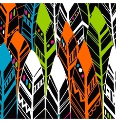 Feather background retro pattern ethnic vector image