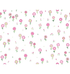 floral seamless pink pattern vector image