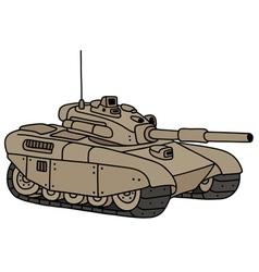 Funny heavy tank vector