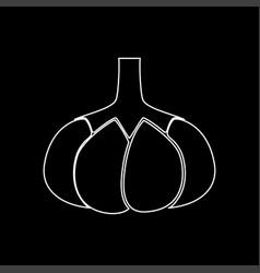 Garlic white color path icon vector