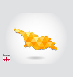 geometric polygonal style map of georgia low poly vector image