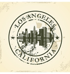 Grunge rubber stamp with Los Angeles California vector image