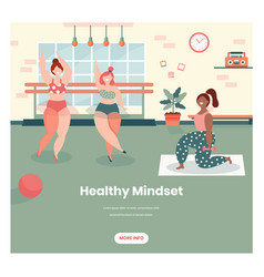 healthy mindset web banner design template vector image